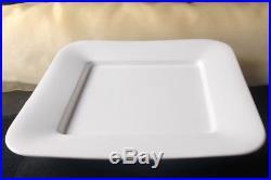 12x Teller Servierplatten Gastronomie Servierteller Porzellan Weiß ca. 31/31 cm