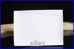 12x Teller Servierteller Servierplatten Porzellan Weiß Gastronomiebedarf 35/25,5