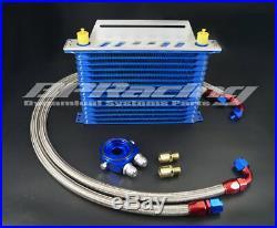 15 Row 10 AN Universal Oil Cooler & Sandwich Plate Adapter + MOUNTING BRACKET