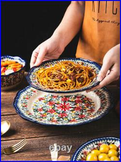 1PCS Poland Tableware Plate Ceramic Dinnerware Restaurant Home Kitchen Supplies