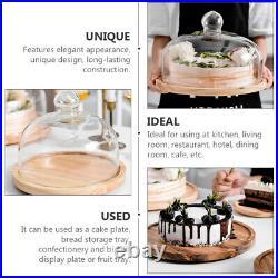 1pc Mini Dessert Display Plate Cake Bread Storage Holder Restaurant Supply