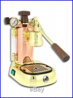 2018 La Pavoni Professional Prg Copper/gold Plated Espresso Machine Italy