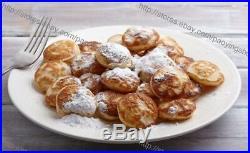 25-hole Mini Poffertjes Iron Mini Dutch Pancake Pan Iron Mold Plate