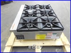 2705-NEW-S&D Vulcan VCRH Series 36 6-Burner Hot Plate, Model VCRH36-1