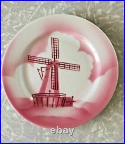 2 Jackson Pottery China Restaurant Dinner Plates Kalberer Hotel Supply Rare