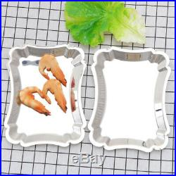 2 pcs Snack Dish Rectangle Party Supplies Tableware for Restaurant Wedding Hotel