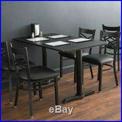 30 x 48 Rectangle Reversible Cherry / Black Table Top and Straight Base Plates