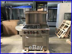 36 Hot Plate Stove Top Oven Range & Griddle Commercial Kitchen NSF Cooler Depot