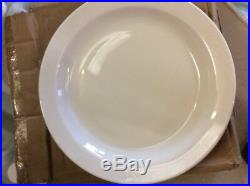 """36 x White Narrow Rimmed Plate 10/"""" Plates Professional Hotelware BS4034 Joblot"""