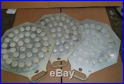 3 Eberhardt 36 Part Dough Divider/Rounder 3U Aluminum Rounding Plates