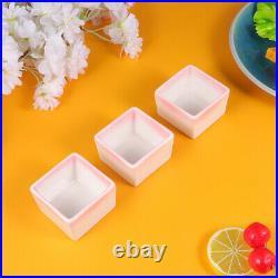 3pcs Bowls Delicate Plates Supplies for Home Restaurant Kitchen