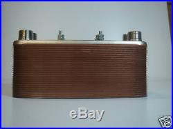 50 Plate Outdoor Wood Furnace Heat Exchanger 1-1/4Port