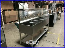 5 plate Food warmer Counter Top steam and dry table Cooler Depot USA New NSF