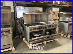 60 Hot Plate Stove Top 2 Oven Range Combo Griddle Commercial NSF Cooler Depot