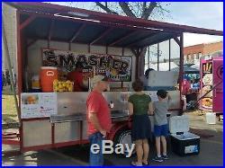 7x12 Custom Diamond Plate Food Concession Trailer Lemonade Stand Hot Dog Cart