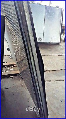 8' Tall Walk In Cooler Door With Stainless Steel Diamond Kick-plate