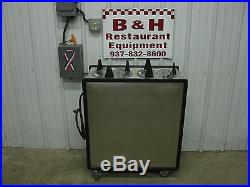 APW Wyott HML2-9 Heated Double 9 Plate Lowerator Dispenser Cart