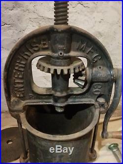 Antique Complete Enterprise Sausage Stuffer Press No 5 No 25 plates