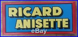 Antique Plate Advertising Sheet Metal Ricard Anisette 8 5/16x19 5/16in Years