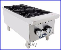 Atosa ATHP-12-2, Commercial 12 2 Burner Hot Plate / Countertop Range, Gas