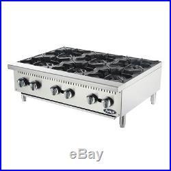 Atosa ATHP-36-6, 36-Inch Heavy Duty Six Burner Hot Plate / Countertop Range