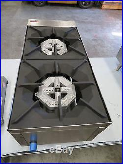 Atosa USA ATHP-12-2 Heavy Duty Stainless Steel 12 Hot Plate 2 burner Nat Gas