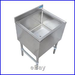 BK Resources 30W Stainless Steel Underbar Insulated Ice Bin withCold Plate