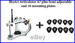 BioArt DentalArticulator A7Plus SemiAdjustable, Facebow and 10Mounting plates