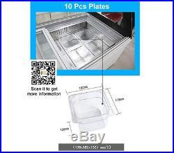Brand new Italian Gelato Ice Cream Display Freezers with 10pcs cooling plates