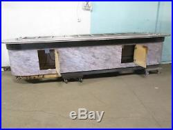 CUSTOM BUILT COMMERCIAL 9 WELLS HOT BUFFET TABLE with2 x 9 PLATE DISPENSERS