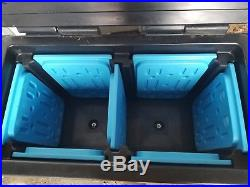 Cambro Plastic Milk Cooler with 7 Removable Freezer Plates on Wheels