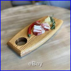 Charcuterie Board Restaurant Supply, Food Serving Platter, Ash Wood Steak Plate