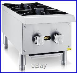 Chef's Exclusive 12 2 Burner Commercial Countertop Hot Plate 50,000BTU LP GAS