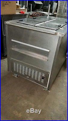 Cold plate freezer ice cream vending cart