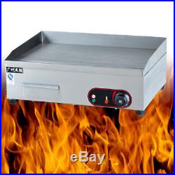 Commercial Cafes Canteens Kitchen Electric Hotplate Grill Griddle BBQ Plate 3KW