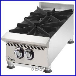 Concession Trailer Hot Plate 2 Burner Propane Appliance