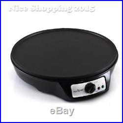 Electric 12 Round Griddle Crepe Maker Hot Plate Cooking Eggs Pancake Countertop