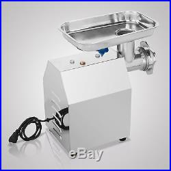 Electric #12 Stainless Steel 4.5lbs/min Meat Grinder Blade Plate Sausage Stuffer
