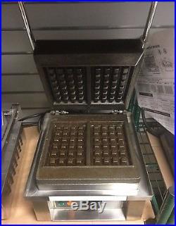 Equipex Sodir GES20 Single Waffle Maker, Cast Iron Plates