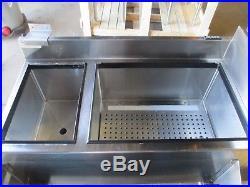 Glastender CBA-36L-CP8 Back Bar Ice Bin Cold Plate Hand Sink Speed Rail SS 48
