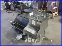 Glastender JBA-24-CP8 Back Bar Ice Bin Cold Plate Hand Sink Speed Rail SS 38