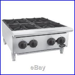 Globe C24HT Chefmate 24 Gas Hot Plate 100,000 BTU Restaurant Equipment