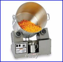 Gold Medal Popcorn Tumbler with mini hot plate, heat lamp & 8 Gallon pot