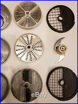 Hallde/Hobart LOT OF 12 Food Processor Blades shredder slicer dicing grid plate