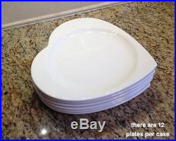 Heart Shaped Dinner Plates Platters (Set of 12) Syracuse China Home Restaurant