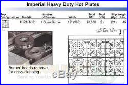 Imperial Hot Plates Open Burners Cast Iron Grates Nat Gas Model Ihpa-1-12