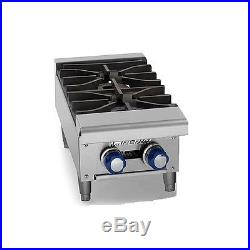 Imperial IHPA-2-12, Countertop Double Burner Gas Hot Plate, Natural Gas, CSA, NS