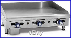Imperial Range IMGA-2428 24 Commercial Gas Griddle Manual Flat Grill 3/4 Plate