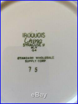 Int'l Restaurant Supply Boston By Jackson China 6.75 Plate Cup LOT Blue Band