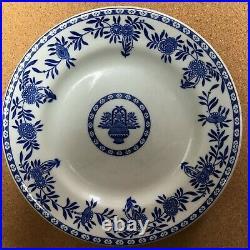 Jackson China Blue Onion Vintage 4 Dinner plates 9.5 restaurant supply